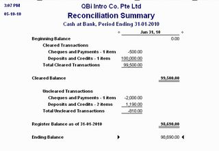 How to read your Bank Reconciliation report QuickBooks Asia