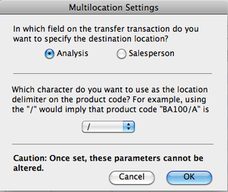Multilocation setting
