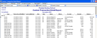 Custom Transaction Detail Report