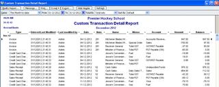 Custom Transaction Detail Report