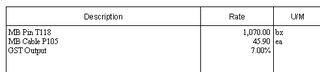 GST line item in invoice